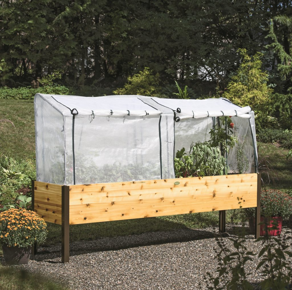 cedar garden with cover